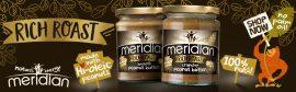 Meridian Rich Roast 100% Mogyoróvaj - Peanut Butter Természetes mogyoróvaj 280g hozzáadott cukor, só és olaj nélkül