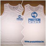 ProteinFutár edzőtrikó, atléta fehér