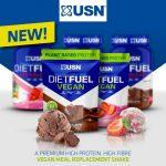 USN Diet Full Vegan Növényi (borsófehérje, szójafehérje, rizsfehérje) étkezést helyettesítő fehérjekeverék 880g