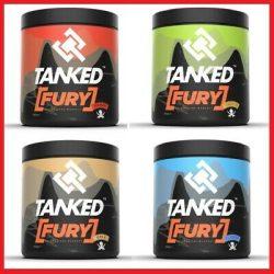 Tanked Fury edzés előtti stimuláns NO- , erő- és teljesítményfokozó por 260 g