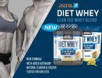 APPLIED NUTRITION DIET WHEY  diétás tejsavófehérje izolátum és koncentrátum keverék fehérje 450g