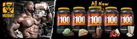 MUTANT PRO 100 - 100% GOURMET WHEY PROTEIN SHAKE tejsavó fehérje koncentrátum, izolátum és hidrolizátum komplex 1,8kg több ízben
