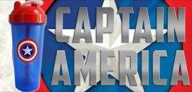 Limitált Perfect Shaker Hero Series Szuperhős Sorozat 800ml Captain America Amerika Kapitány