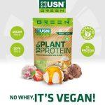 USN Green 100% Plant Protein Vegán Növényi fehérjekeverék 900g - Vegánoknak és Vegetariánusoknak is Borsó, rizs, Kenderfehérje ízesített