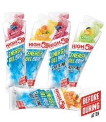 High 5 Energy Aqua Gel több ízben 66g azonnal fogyasztható gél Új
