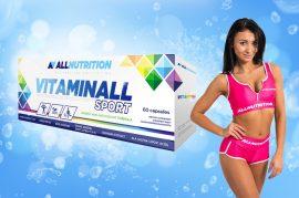 Allnutrition Vitaminall Sport multivitamin vitamin kapszula 60db (ginsenggel, zöld tealevél kivonattal, koffeinnel, guaranával, keserű narancs, csalán kivonattal, koenzim Q10)