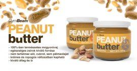 GymBeam 100% Mogyoróvaj - Peanut Butter  Természetes földimogyoróvaj hozzáadott cukor és só nélkül 900 g