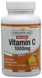 Nature's Aid nyújtott felszívódású C Vitamin tabletta Citrus Bioflavonokkal 1000mg 90db