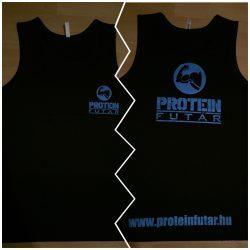Proteinfutár edzőtrikó, atléta fekete