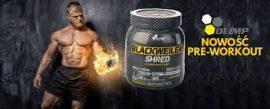 Olimp Blackweiler Shred NO fokozó edzés előtti por 480g zsírégető hatóanyagokkal