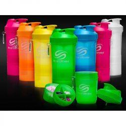 SMARTSHAKE - NEON 3 részes Shaker 600ml kapszula- és fehérjepor tárolóval