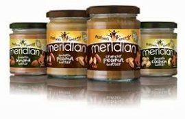 Meridian 100% Mogyoróvaj - Peanut Butter Természetes mogyoróvaj 280g hozzáadott cukor, só és olaj nélkül