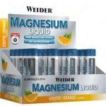 Weider Magnesium Liquid folyékony magnézium 25ml ampulla a maximális regenerációért, görcsmentes edzéshez