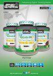 Applied Nutrition Vegan-Pro Vegán Növényi fehérjekeverék 2,1kg - Vegánoknak és Vegetariánusoknak is Szója, Borsó, Barna rizs, Kendermagfehérje ízesített