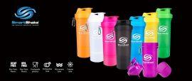 SMARTSHAKE SLIM - NEON 3 részes Shaker 500ml kapszula- és fehérjepor tárolóval