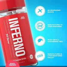 Sparta Nutrition Inferno prémium stimulánsmntes zsírégető kapszula 60 db Spartan