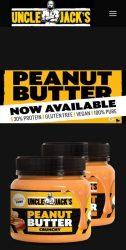 Uncle Jack's 100% Mogyoróvaj - Peanut Butter  Természetes mogyoróvaj hozzáadott cukor és só nélkül
