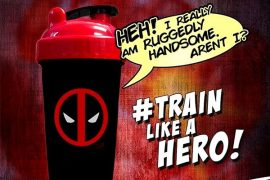 Limitált Perfect Shaker Hero Series Szuperhős Sorozat 800ml Deadpool