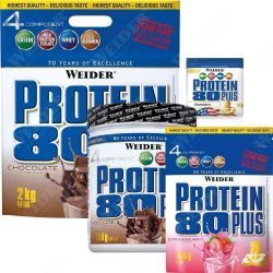Weider Protein 80 Plus több komponensű fehérje keverék 500g