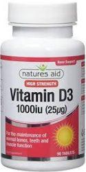 Nature's Aid D Vitamin D3 tabletta 1000 IU 120db