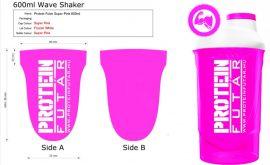 ProteinFutár Wave Shaker 600ml Super Pink
