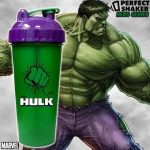 Limitált Perfect Shaker Hero Series Szuperhős Sorozat 800ml Hulk