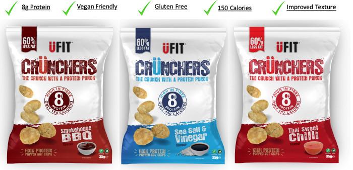 UFIT Crunchers diétás egészséges nassolnivaló fehérje chips 1 csomag 27g